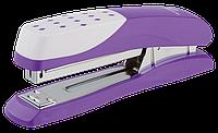 Пластиковый степлер buromax bm.4233-07 Шахматка фиолетовый на 20 листов (скобы №24; 26)