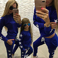 Одинаковые спортивные костюмы для мамы и дочки