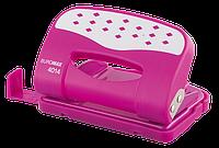Дырокол металлический ШАХМАТКА, 12л., розовый bm.4014-10