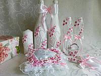 Свадебные бокалы розовые Новинка