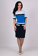 Женское вязанное платье Карамелька  синий