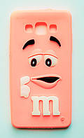 Чехол на Самсунг Galaxy A5 A500H M&Ms приятный Силикон Розовый, фото 1