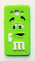 Чехол на Самсунг Galaxy A5 A500H M&Ms приятный Силикон Зеленый, фото 1