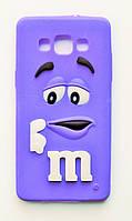 Чехол на Самсунг Galaxy A5 A500H M&Ms приятный Силикон Фиолетовый