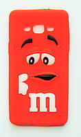 Чехол на Самсунг Galaxy A5 A500H M&Ms приятный Силикон Красный, фото 1