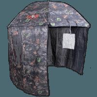 Umbrella Shelter, camou, 250cm (Рыболовный зонт-палатка, камуфляжного цвета,диаметр-250см, вес 3 кг, в наборе колышки, можно использовать как зонт с