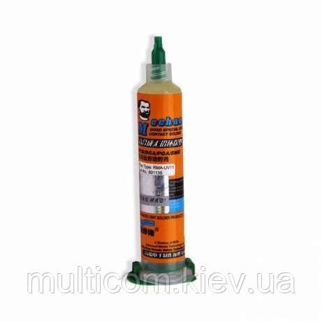 13-11-065. Флюс RMA-UV11, шприц 10мл, Mechanic