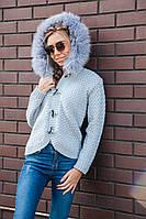 Вязанная женская кофта