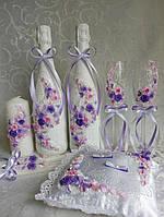 Свадебный набор сиренево розовый Новинка