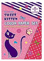 Цветная бумага А4,  16 листов, 8 цветов Cool For School