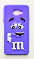 Чехол на Самсунг Galaxy A5 (2016) A510F M&Ms приятный Силикон Фиолетовый, фото 1