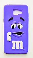 Чехол на Самсунг Galaxy A5 (2016) A510F M&Ms приятный Силикон Фиолетовый