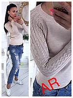 Женский красивый свитер вязаный (расцветки)