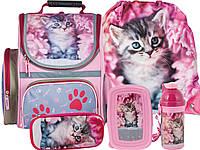 Рюкзак школьный с кошкой 5 эл. комплект