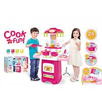 Детская игровая кухня 889-53, 24 предмета. Звуковые и световые эффекты.