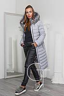 Удлиненная женская куртка для зимы
