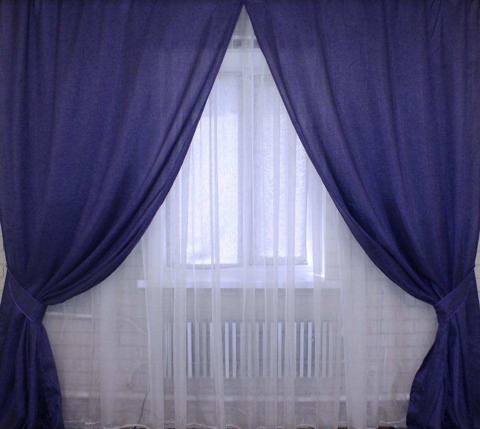 "Комплект готовых штор ""Лен Мешковина"""