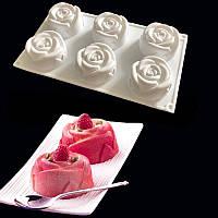 Форма для выпечки Розы 6 шт.