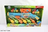 Ружье стреляет шариками, кегли(мишени), в коробке (ОПТОМ) 648-16