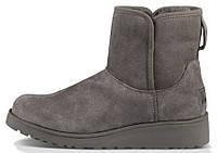 Женские зимние сапожки UGG Australia Kristin Classic Boots Grey (Угги УГГ Австралия) серые