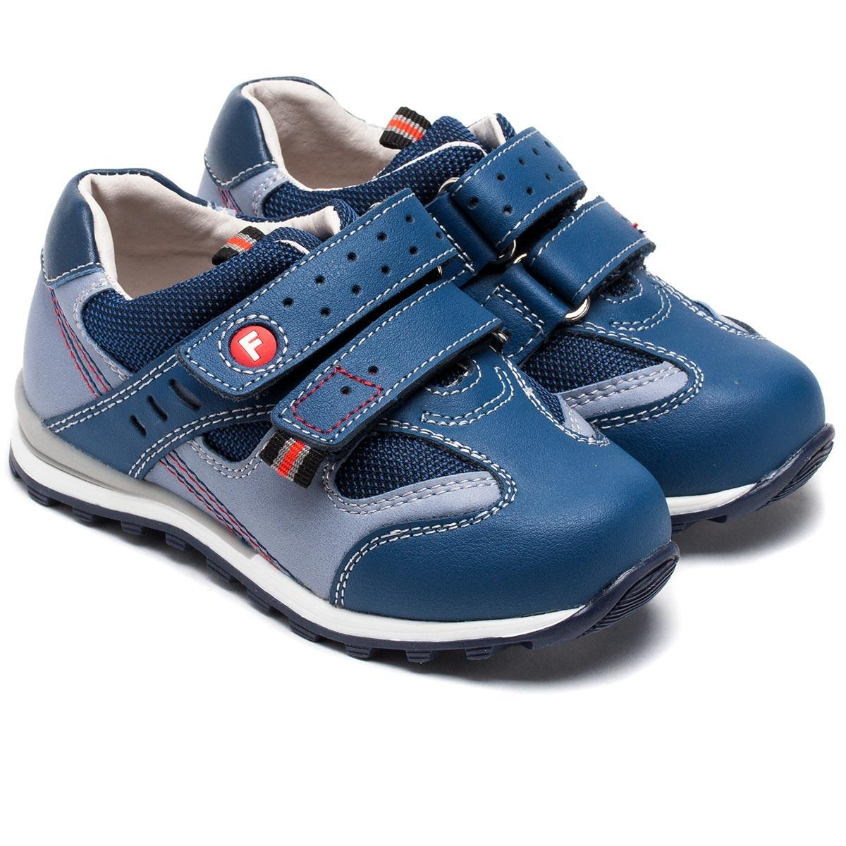 Кожаные кроссовки для мальчика ТМ Фламинго