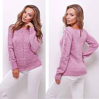 Сиреневый вязанный свитер