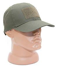 БЕЙСБОЛКА ТАКТИЧЕСКАЯ ОЛИВА с липучкой (TACTICAL CAP OLIVA), фото 2