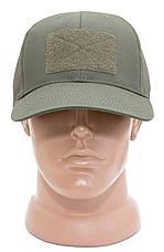 БЕЙСБОЛКА ТАКТИЧЕСКАЯ ОЛИВА с липучкой (TACTICAL CAP OLIVA), фото 3