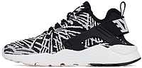 "Женские кроссовки Nike Air Huarache KJCRD ""Black/White"" (найк хуарачи) черно-белые"