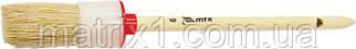 Кисть круглая № 6 (30 мм), натуральная щетина, деревянная ручка// MTX