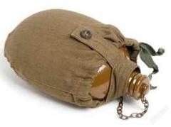 Армейская фляга в чехле