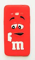 Чехол на Самсунг Galaxy Grand Prime G530H M&Ms приятный Силикон Красный