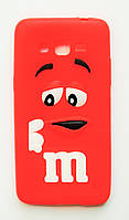 Чехол на Самсунг Galaxy Grand Prime G530H M&Ms приятный Силикон Красный, фото 1