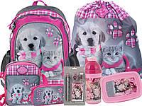 Рюкзак школьный с собакой и кошкой 7 эл.