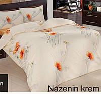 Полуторное детское постельное , хлопок ранфорс. Altinbasak (Турция), Nazenin крем - полуторный