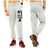 Спортивные трикотажные брюки на манжете