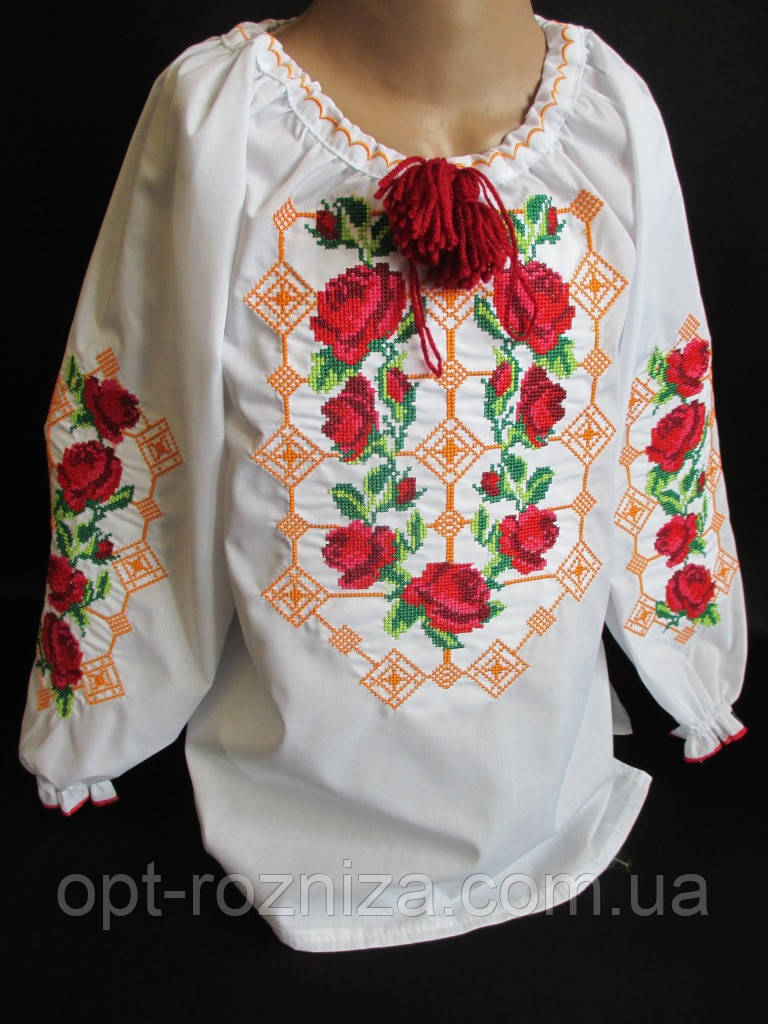 Нарядные вышитые блузы для девушек.