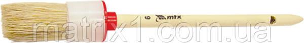 Кисть круглая №18 (60 мм), натуральная щетина, деревянная ручка// MTX