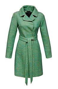 Пальто Tazetta классическое приталенное букле средней длинны мятное