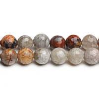 Мексиканский Агат Граненый, Натуральный камень, На нитях, бусины 8 мм, Шар, кол-во: 47-48 шт/нить