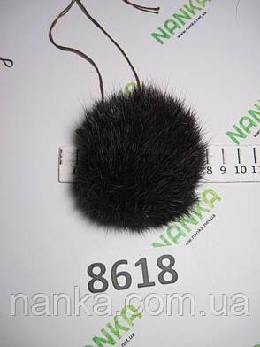 Меховой помпон Кролик, Тем. Фиолет, 8 см,  8618, фото 2