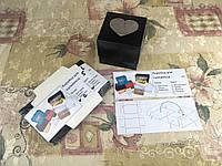 Коробка Черная для 1-ого кекса с окном СЕРДЦЕ для капкейка, маффина 100*100*90 (с окошком)