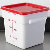 Крышка для контейнера пищевого 23х23х1,6 см. поликарбонатная, красная FoREST