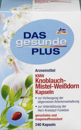Биологически активная добавка Das Gesunde Plus KMW Knoblauch-Mistel-Weißdorn, 240 шт.