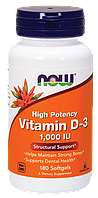 Vitamin D-3 1,000 IU NOW Foods 180 Softgels