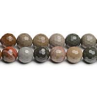 ХромированнаяЯшма Грань, Натуральный камень, На нитях, бусины 8 мм, Шар, 48 шт/нить