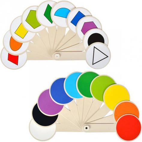 Веер цветов и геометрических фигур, фото 2