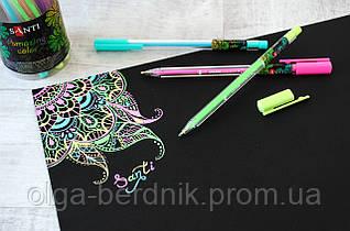 "Ручка гелевая Розовая ""Amazing color"", 420335, SANTI"