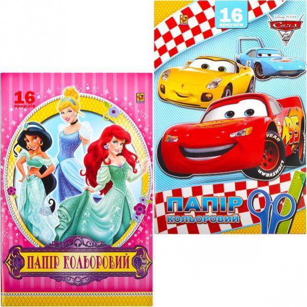 Цветная бумага А4 /А3 офсет №2, 16 листов «Коленкор» CB001-10209