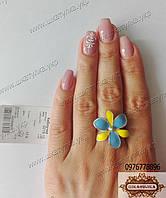 Серебряное кольцо с эмалью №0219.10
